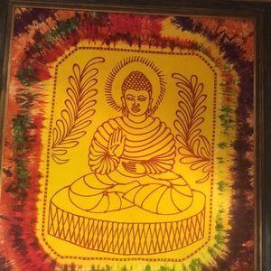 Buddha framed tapestry